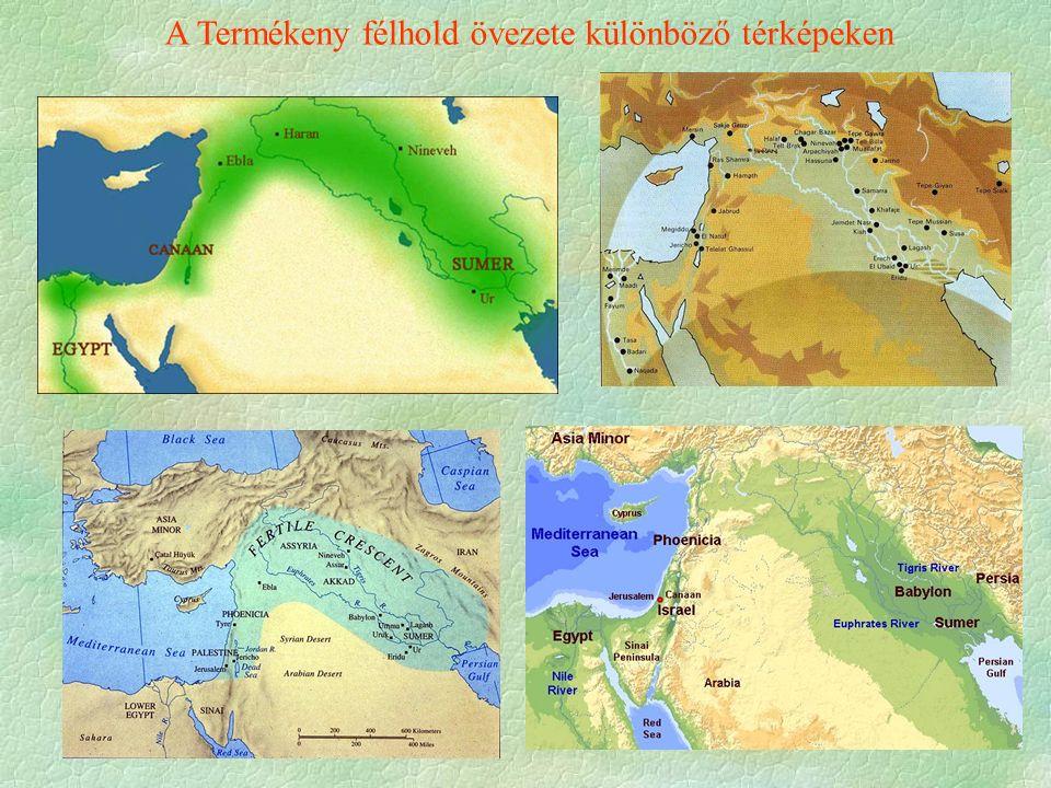 A Termékeny félhold övezete különböző térképeken