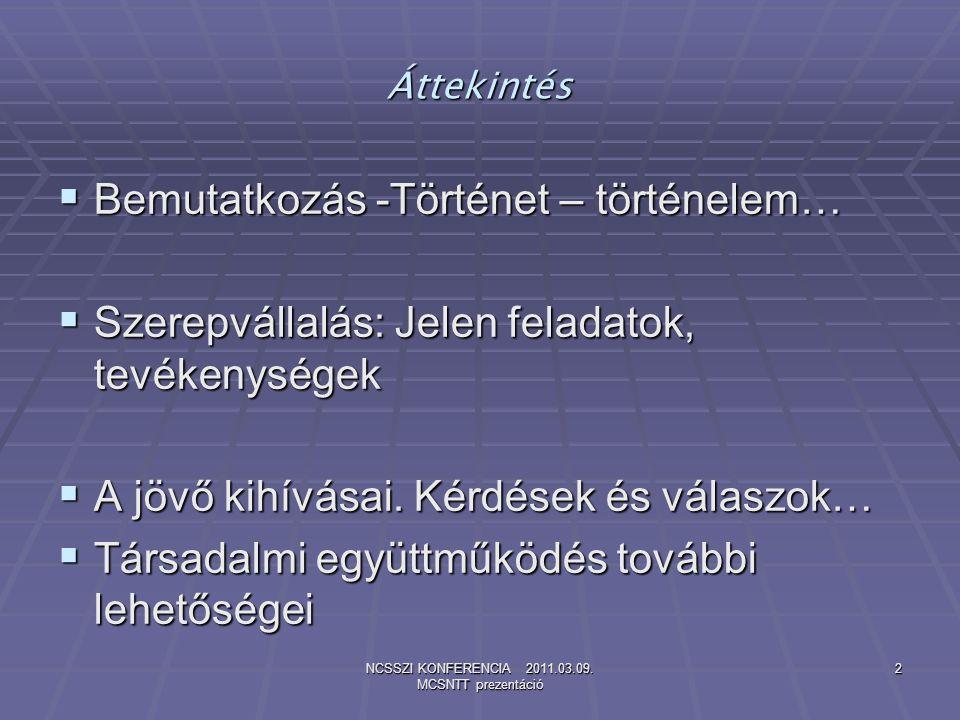 NCSSZI KONFERENCIA 2011.03.09.MCSNTT prezentáció 13 Kérdések…és Válaszok.