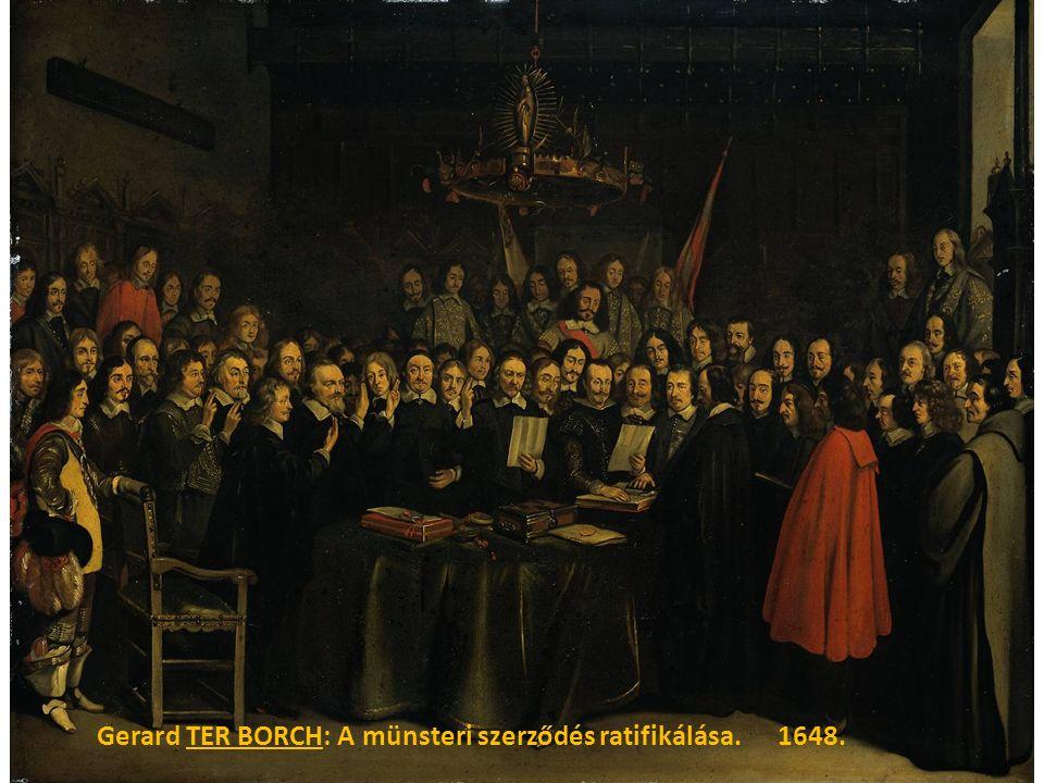 Gerard TER BORCH: A münsteri szerződés ratifikálása. 1648.