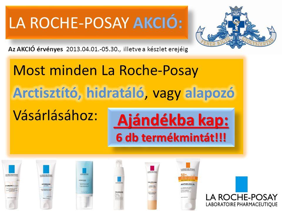 Az AKCIÓ érvényes 2013.04.01.-05.30., illetve a készlet erejéig Ajándékba kap: Ajándékba kap: 6 db termékmintát!!.