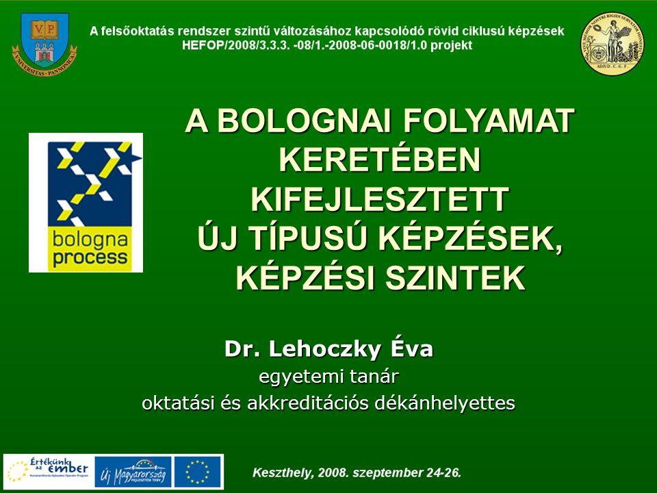 A BOLOGNAI FOLYAMAT ELŐZMÉNYEI 1988: Bolognában - az első egyetem megalapításának 900.