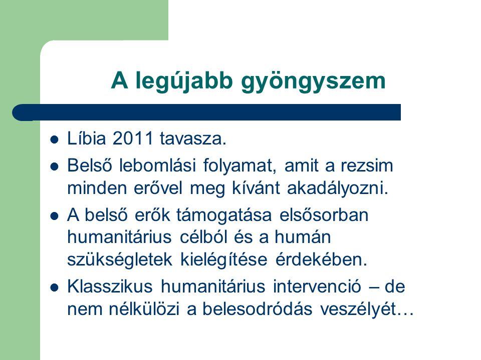 A legújabb gyöngyszem Líbia 2011 tavasza.
