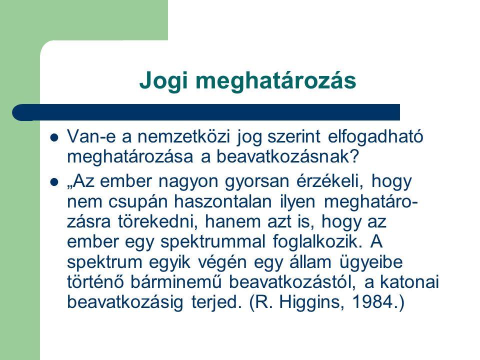 """Gyakorlat és szabályozás a hidegháború idején (3) """"2."""