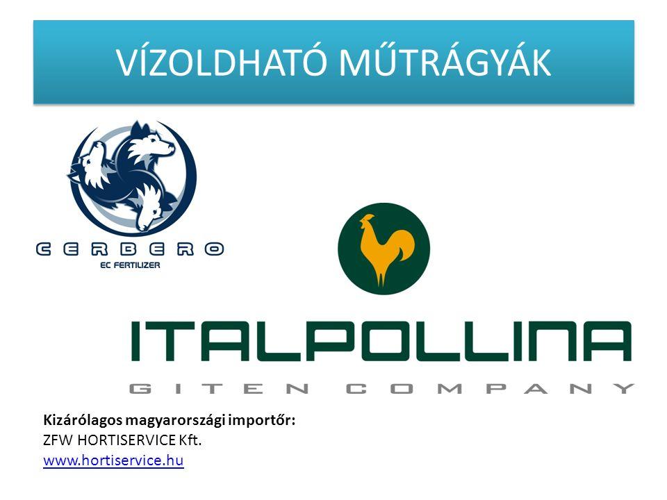 VÍZOLDHATÓ MŰTRÁGYÁK ITALPOLLINA Kizárólagos magyarországi importőr: ZFW HORTISERVICE Kft. www.hortiservice.hu