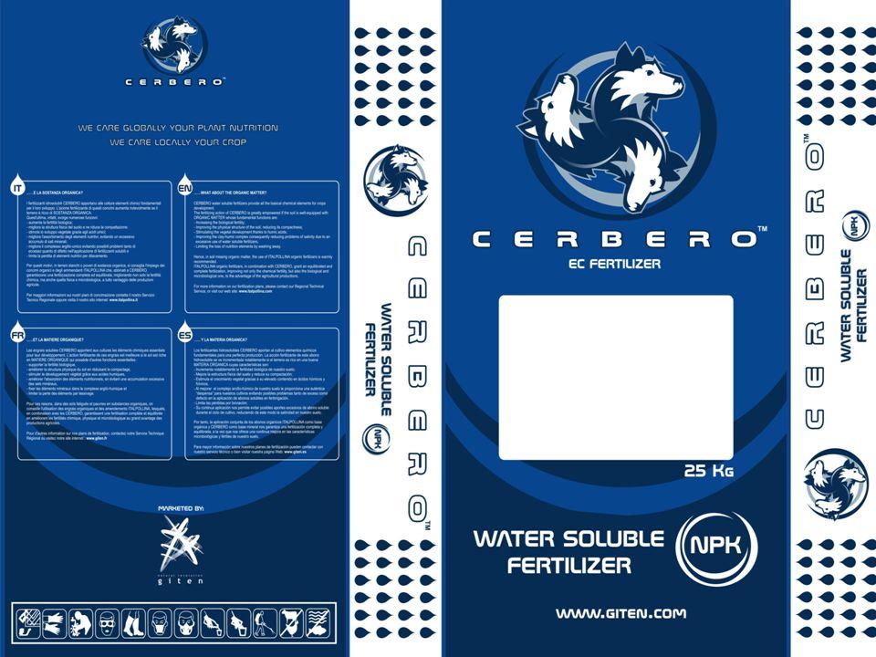 CERBERO VÍZOLDHATÓ KOMPLEX MŰTRÁGYÁK NPK + MgO + Mikroelemek - CERBERO 15-5-30 + 2 MgO + T.E.
