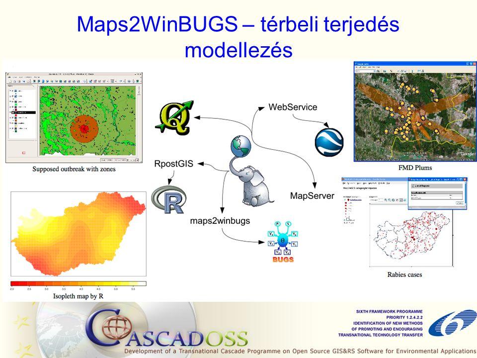 Maps2WinBUGS – térbeli terjedés modellezés