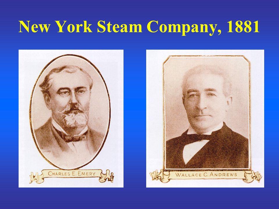 New York Steam Company, 1881