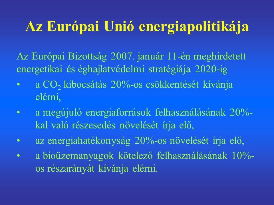 Az Európai Unió energiapolitikája Az Európai Bizottság 2007.