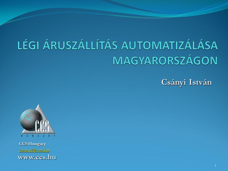 CCS Hungary icsanyi@ccs.hu www.ccs.hu Csányi István Csányi István 1