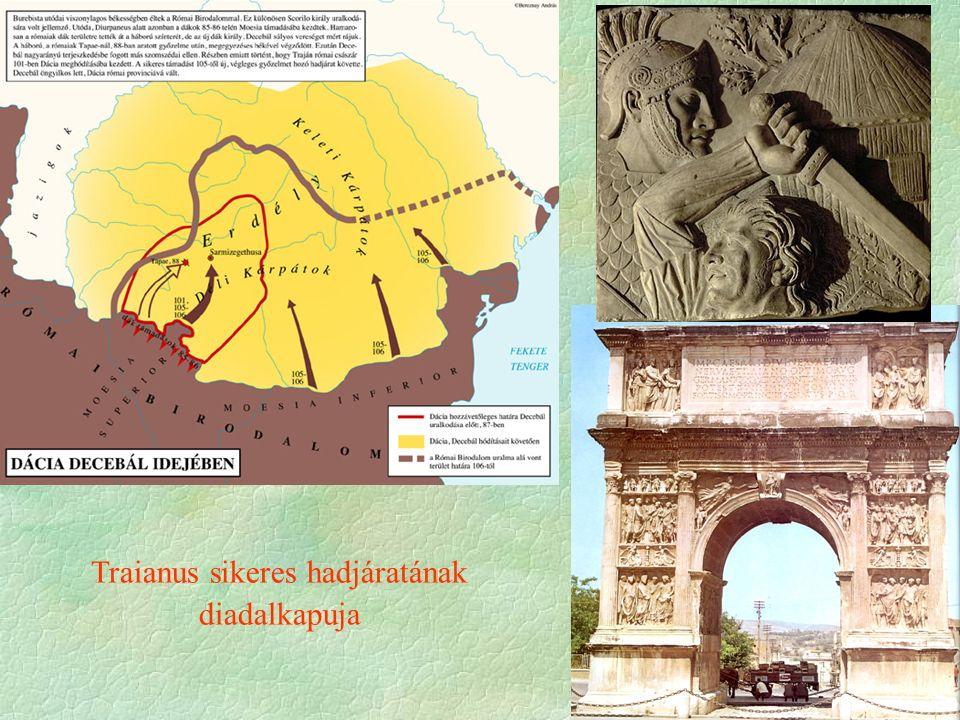 Traianus sikeres hadjáratának diadalkapuja