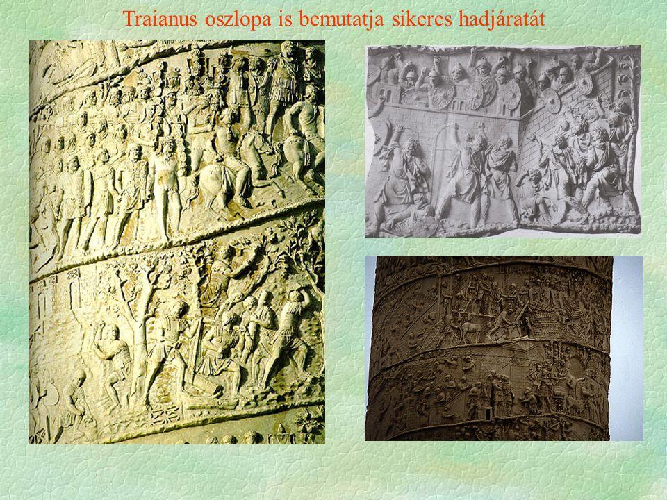 Traianus oszlopa is bemutatja sikeres hadjáratát