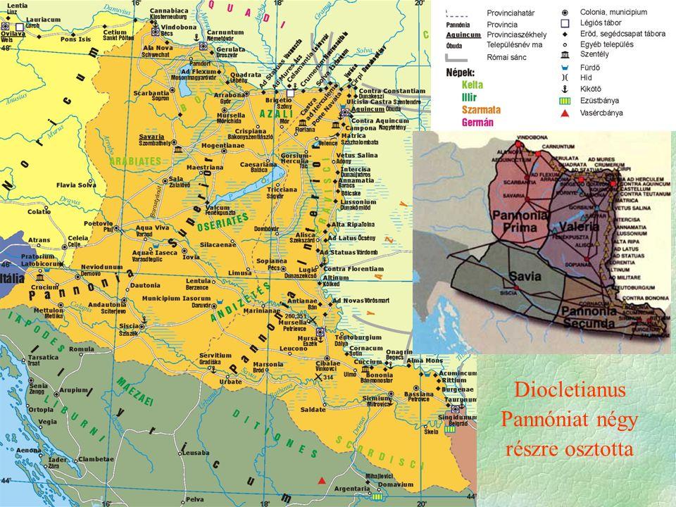 Diocletianus Pannóniat négy részre osztotta