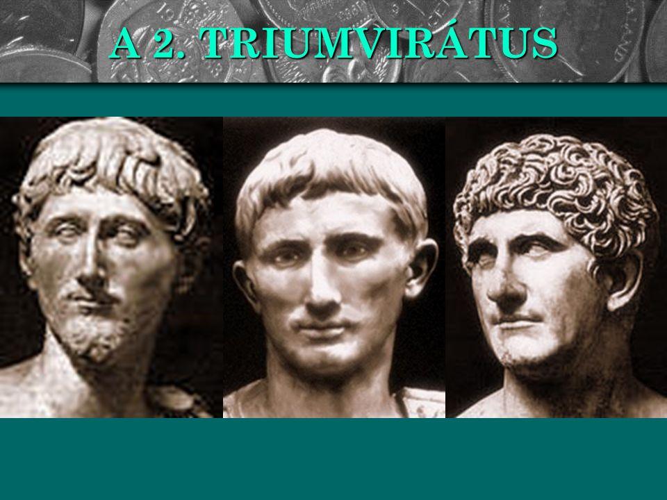 AZ ACTIUMI GYŐZELEM Ezután már riválisként tekintettek egymásra : félreállították az idős Lepidust, és felkészültek a végső összecsapásra.