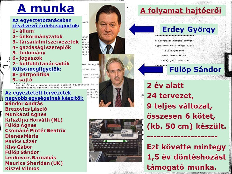 az egyeztető- tanács elsődlegesen Erdey György, majd Baráth Etele segítségével folytatta a döntéshozást támogató munkáját.
