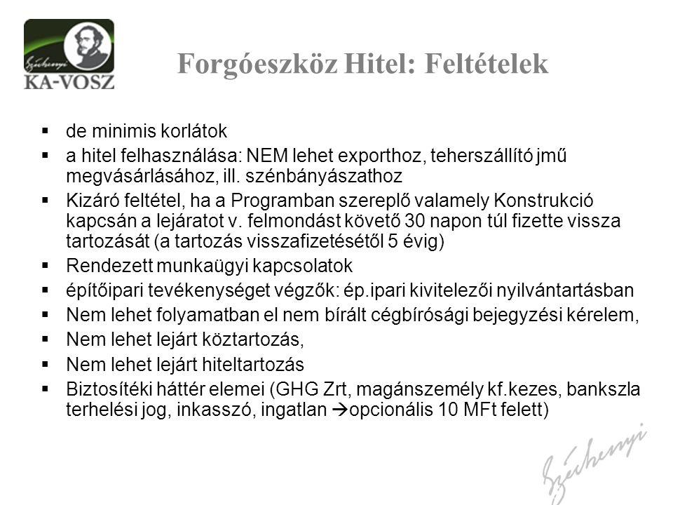 A Széchenyi Kártya Program feltételrendszere I.