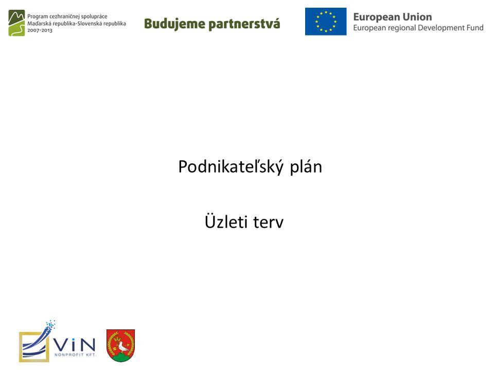 Podnikateľský plán Üzleti terv