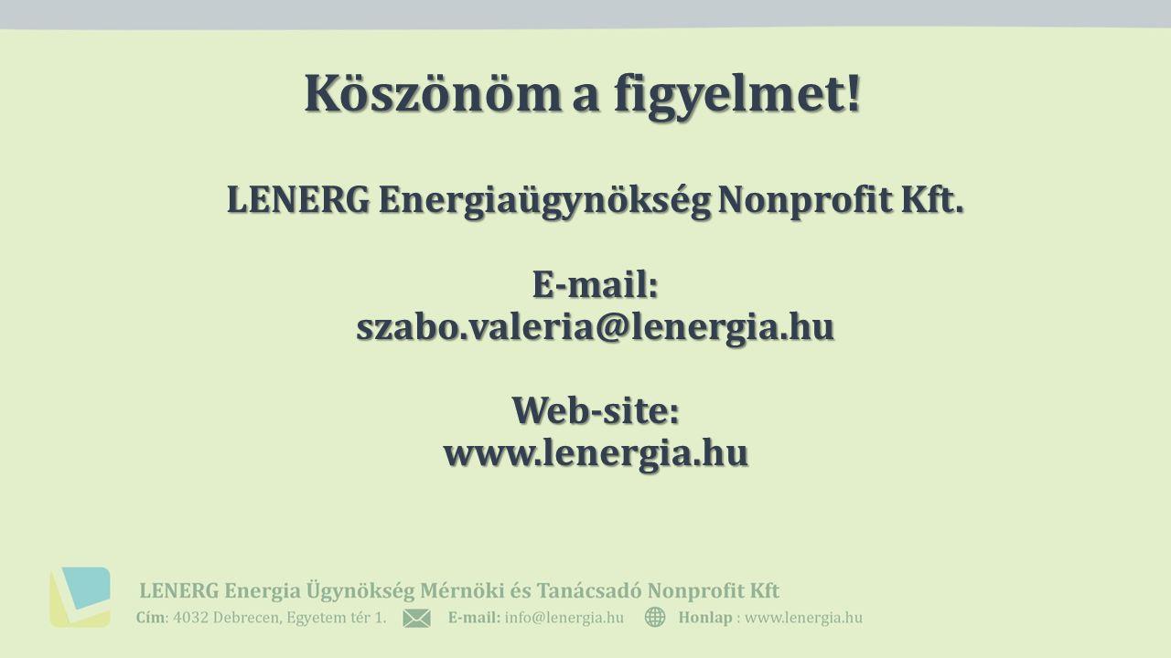 Köszönöm a figyelmet. LENERG Energiaügynökség Nonprofit Kft.