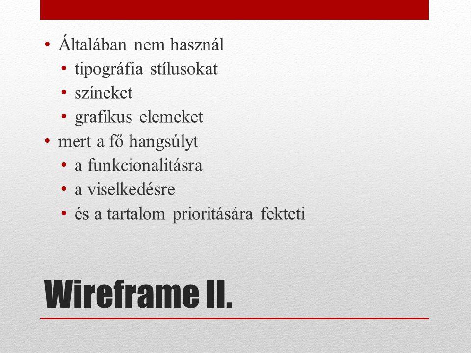 Wireframe II.