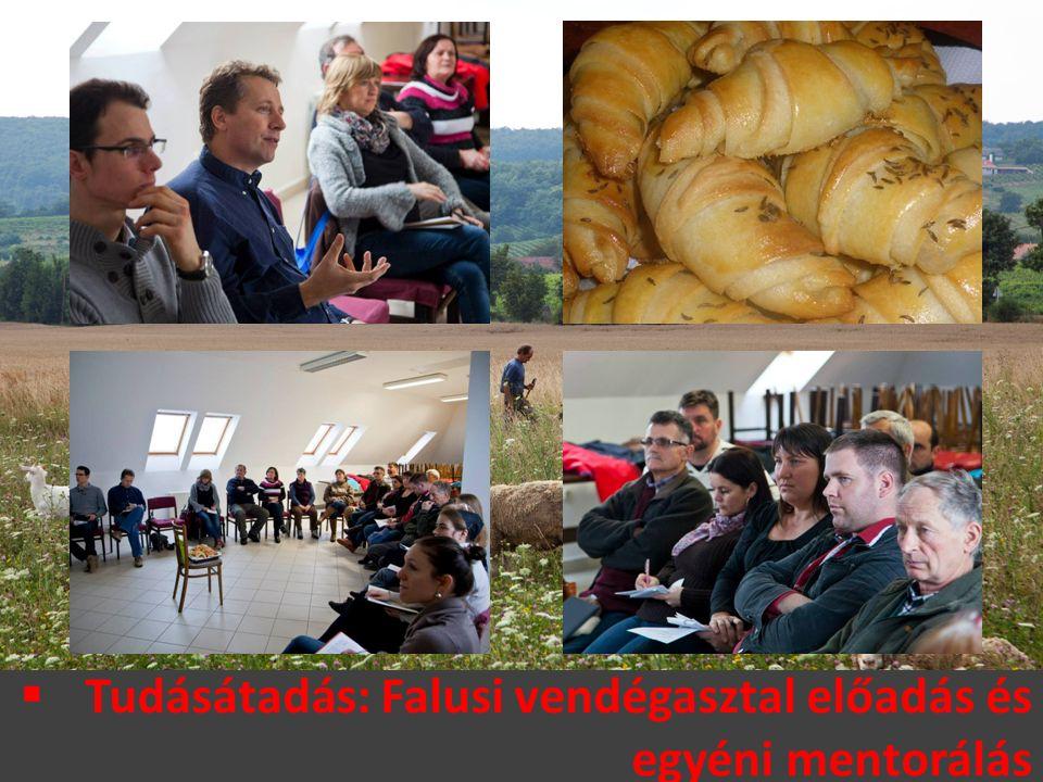  Tudásátadás: Falusi vendégasztal előadás és egyéni mentorálás