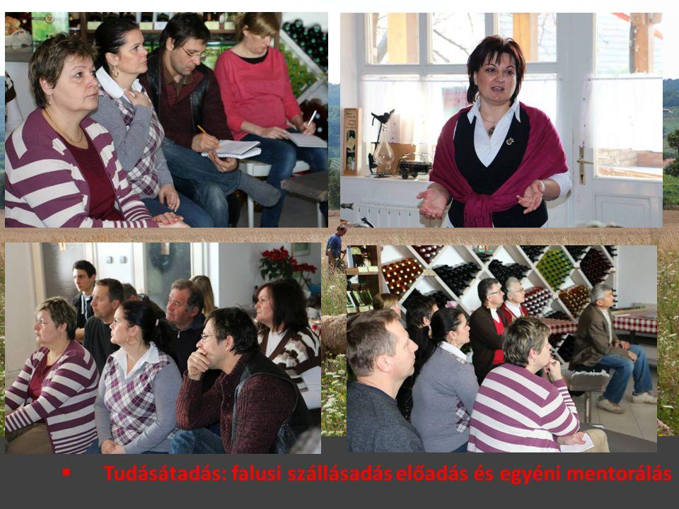  Tudásátadás: falusi szállásadás előadás és egyéni mentorálás
