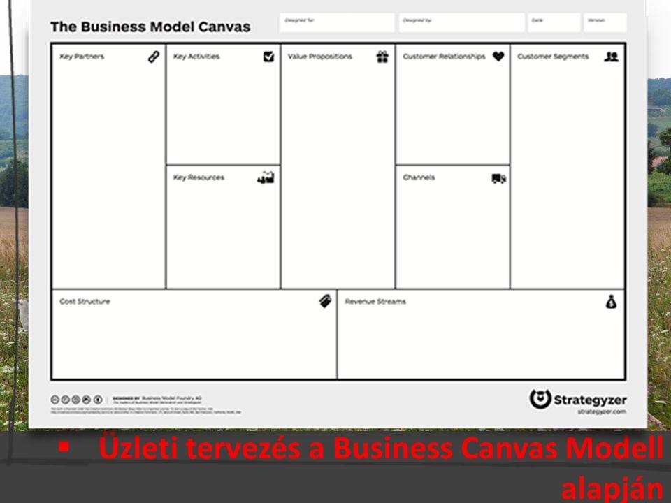  Üzleti tervezés a Business Canvas Modell alapján