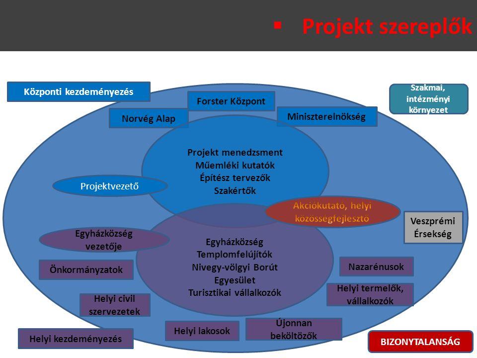 Helyi kezdeményezés Központi kezdeményezés Norvég Alap Miniszterelnökség Forster Központ Helyi lakosok Újonnan beköltözők Önkormányzatok Veszprémi Érs