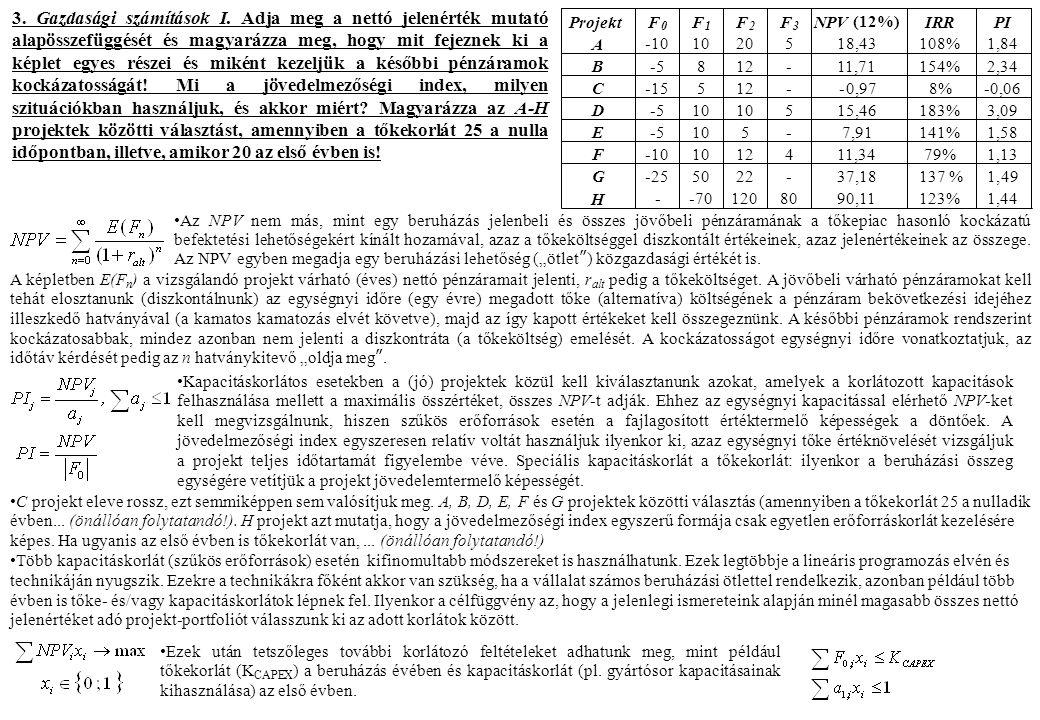 3. Gazdasági számítások I.