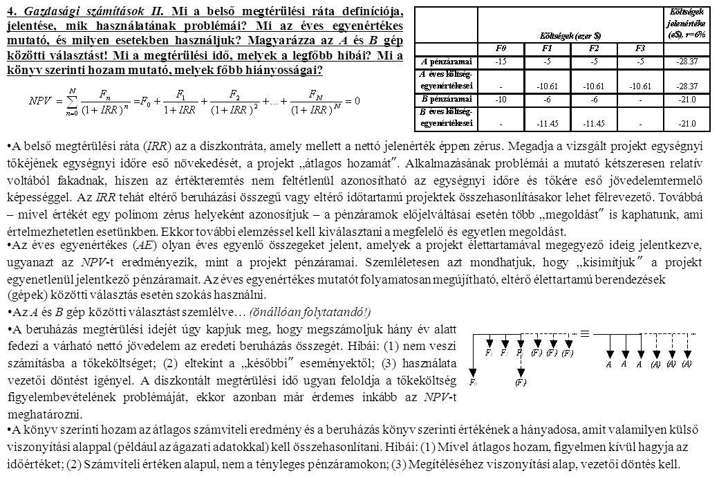 4. Gazdasági számítások II.