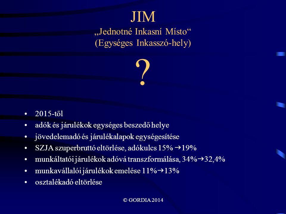 """© GORDIA 2014 JIM """"Jednotné Inkasní Místo (Egységes Inkasszó-hely) ."""