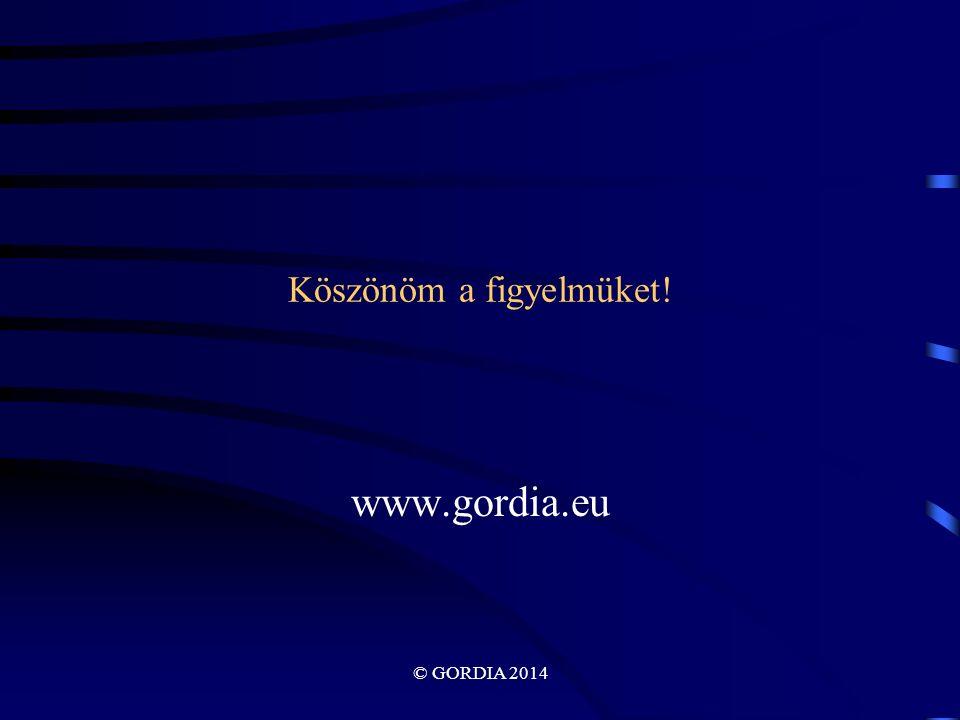 Köszönöm a figyelmüket! www.gordia.eu © GORDIA 2014