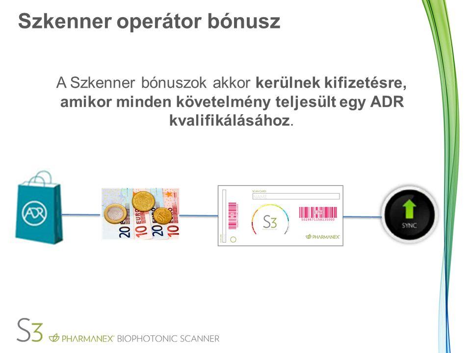 Szkenner operátor bónusz A Szkenner bónuszok akkor kerülnek kifizetésre, amikor minden követelmény teljesült egy ADR kvalifikálásához.