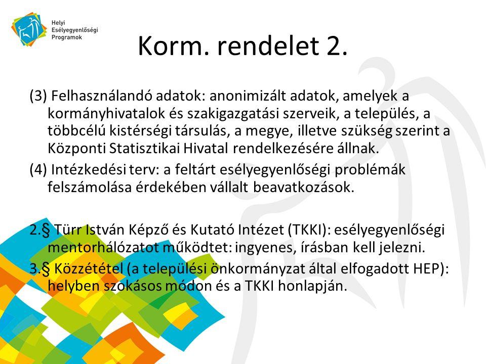 Korm. rendelet 2.