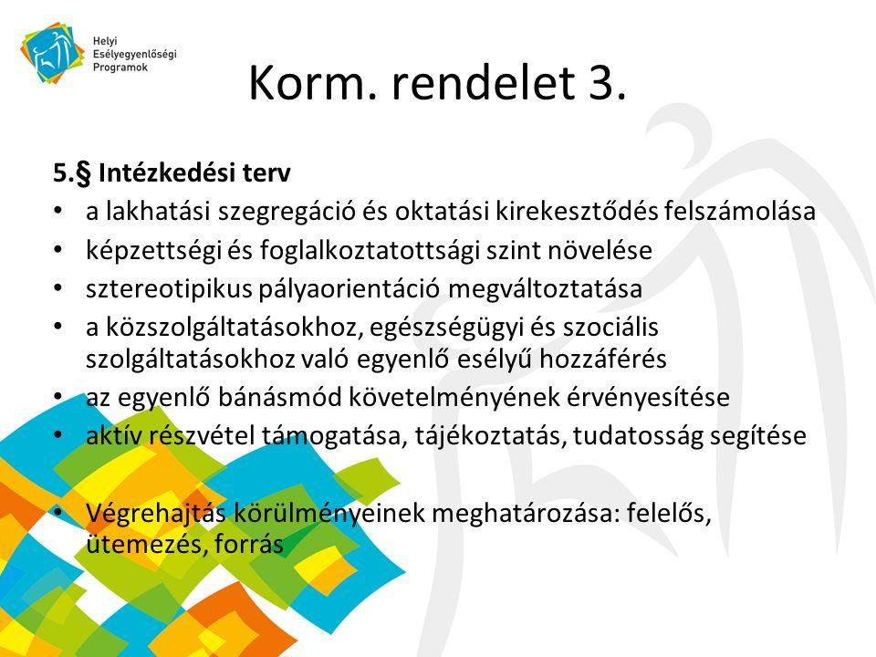 Korm. rendelet 3.