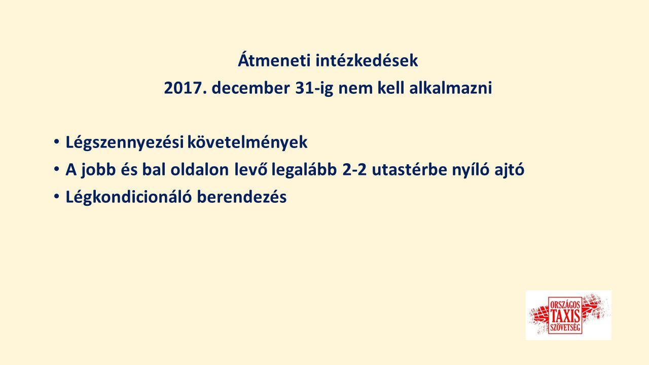 Átmeneti intézkedések 2017.
