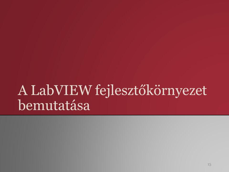 A LabVIEW fejlesztőkörnyezet bemutatása 15