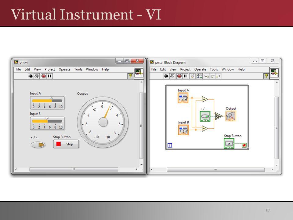 Virtual Instrument - VI 17