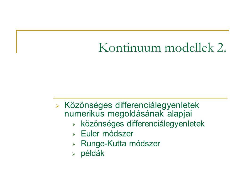 Kontinuum modellek 2.
