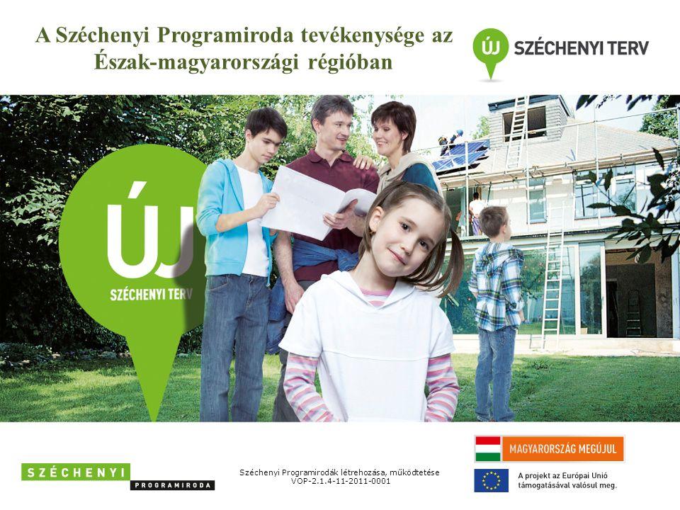 A Széchenyi Programiroda tevékenysége az Észak-magyarországi régióban Széchenyi Programirodák létrehozása, működtetése VOP-2.1.4-11-2011-0001