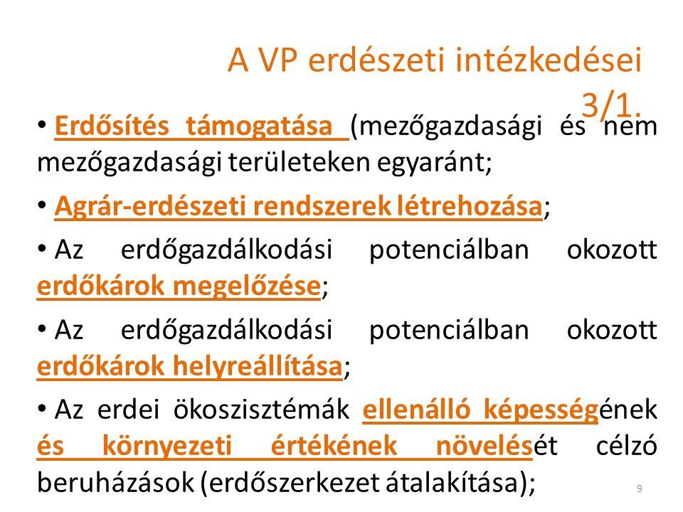A VP erdészeti intézkedései 3/1.