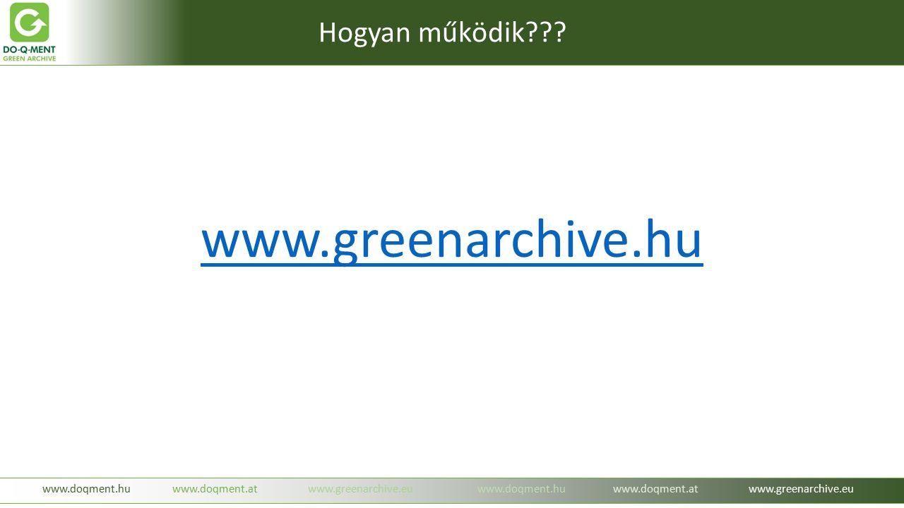 www.greenarchive.hu www.doqment.huwww.doqment.atwww.greenarchive.euwww.doqment.huwww.doqment.atwww.greenarchive.eu Hogyan működik