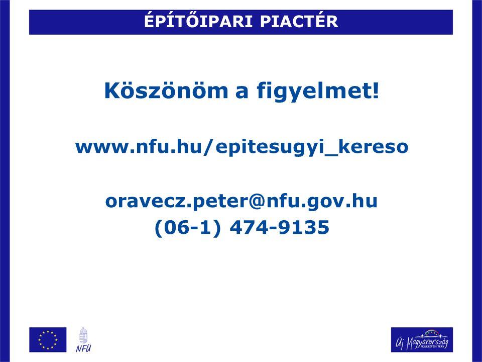 Köszönöm a figyelmet! www.nfu.hu/epitesugyi_kereso oravecz.peter@nfu.gov.hu (06-1) 474-9135