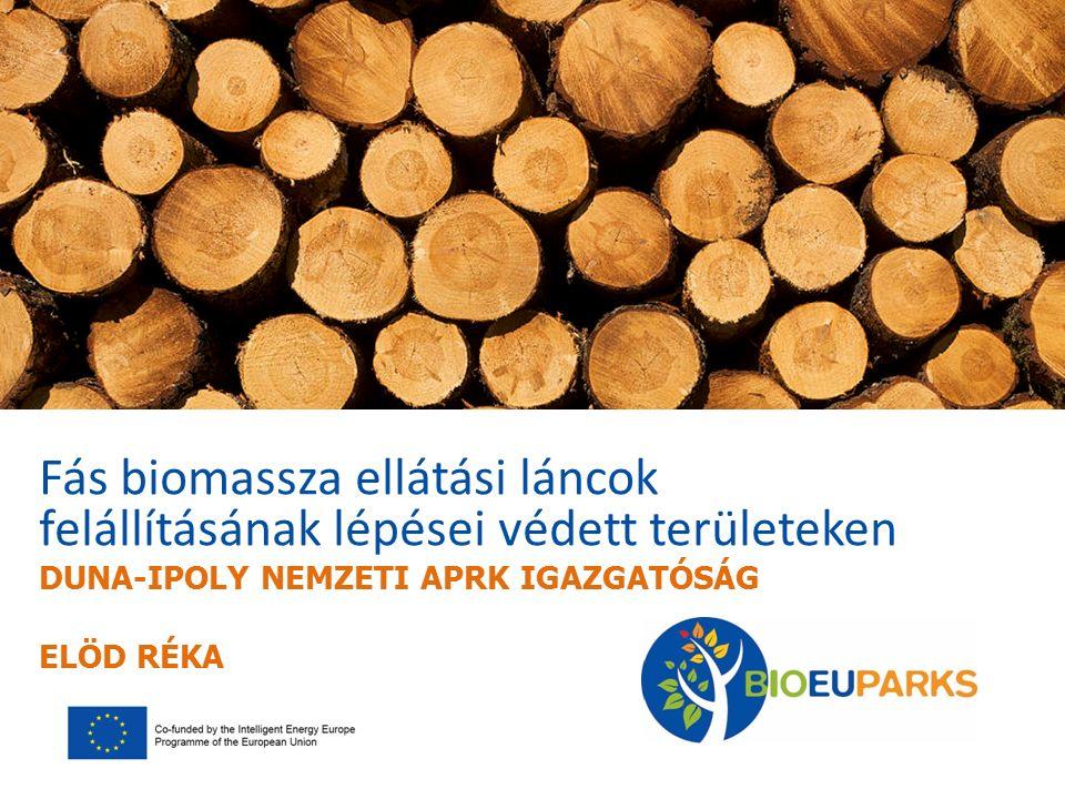Fás biomassza ellátási láncok felállításának lépései védett területeken DUNA-IPOLY NEMZETI APRK IGAZGATÓSÁG ELÖD RÉKA
