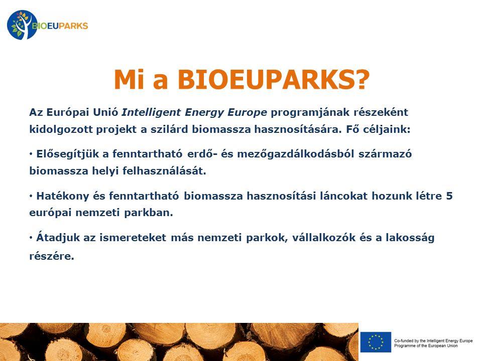 Mi a BIOEUPARKS? Az Európai Unió Intelligent Energy Europe programjának részeként kidolgozott projekt a szilárd biomassza hasznosítására. Fő céljaink: