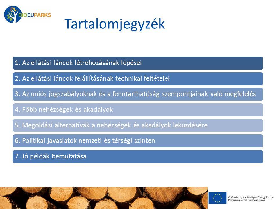 Tartalomjegyzék 1. Az ellátási láncok létrehozásának lépései2. Az ellátási láncok felállításának technikai feltételei3. Az uniós jogszabályoknak és a