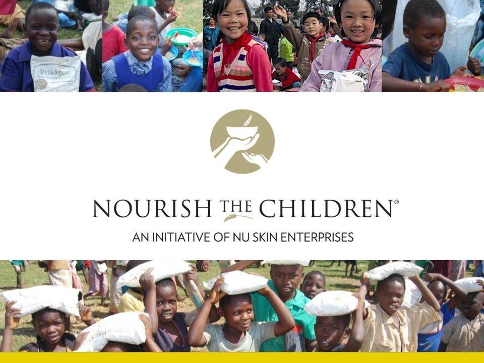 Üzletépítők/ Vásárlók: vásárlás és adományozás Jótékonysági szervezetek: szállítás és elosztás Az étel eljut a nélkülöző gyermekekhez A Nu Skin Malawiban, Kínában és az Egyesült Államokban gyártja a VitaMealt.