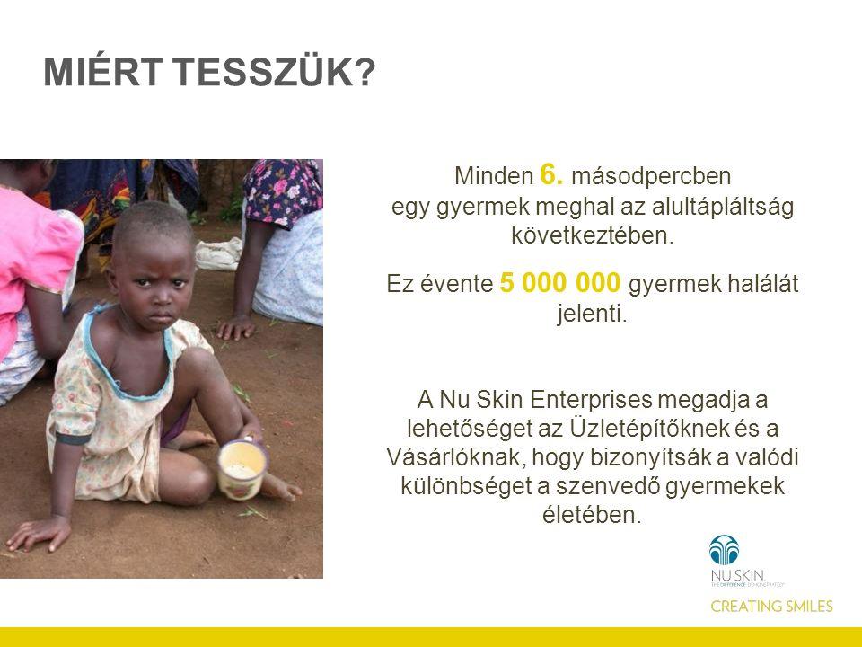 MIÉRT TESSZÜK. Minden 6. másodpercben egy gyermek meghal az alultápláltság következtében.