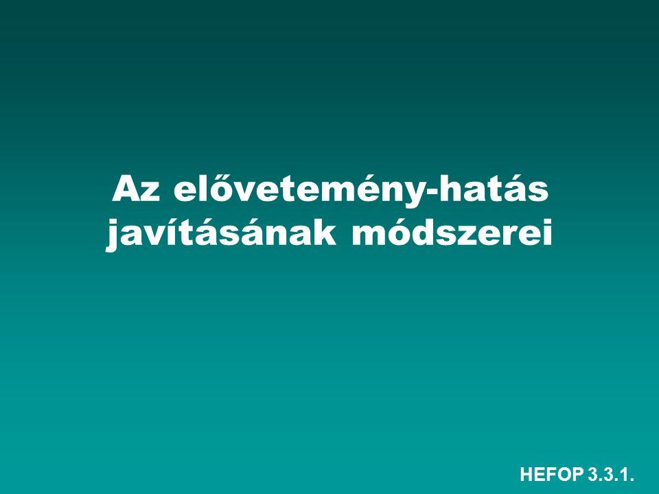 HEFOP 3.3.1. Az elővetemény-hatás javításának módszerei