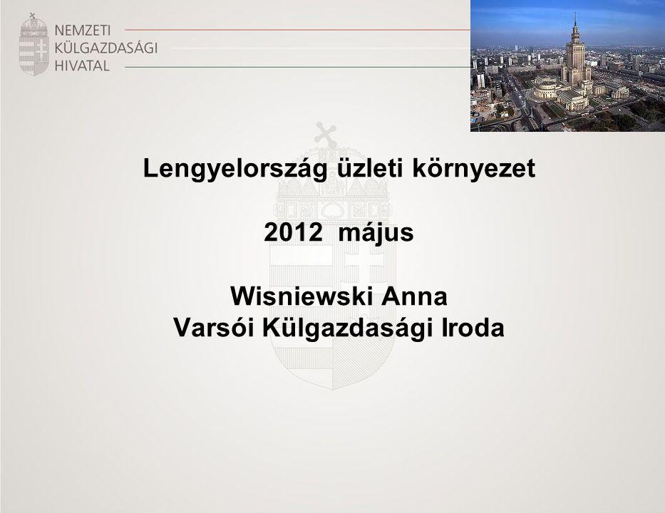 Lengyelország üzleti környezet 2012 május Wisniewski Anna Varsói Külgazdasági Iroda