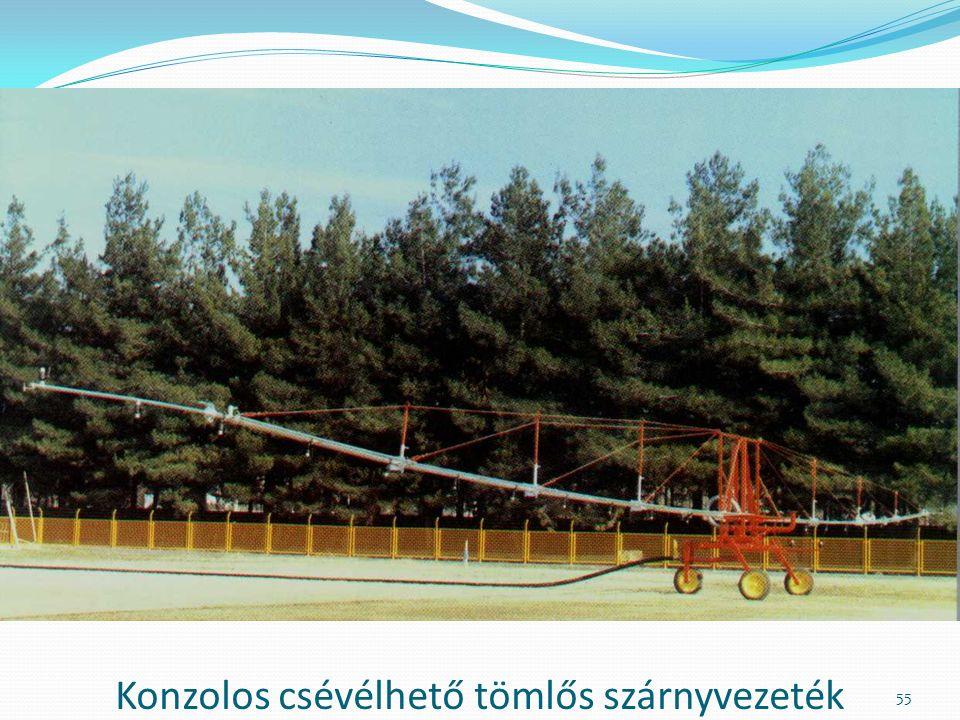 Konzolos csévélhető tömlős szárnyvezeték 55
