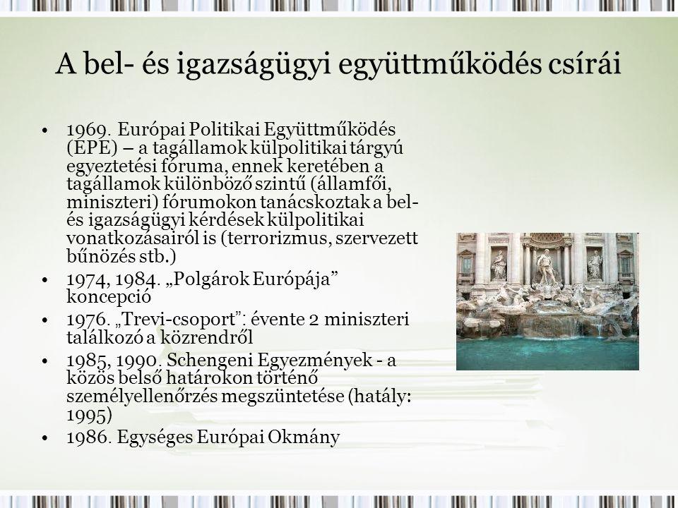 A bel- és igazságügyi együttműködés csírái 1969.